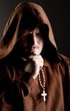 Monje en sombra Foto de archivo libre de regalías