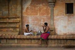 Monje en templo indio Foto de archivo libre de regalías