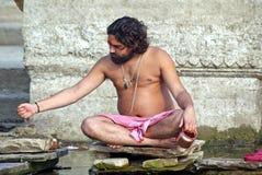 Monje hindú en Varanasi Fotografía de archivo libre de regalías