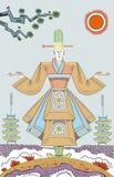 Monje japonés Imágenes de archivo libres de regalías