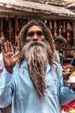 Monje masculino indio con una barba larga imágenes de archivo libres de regalías