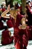 Monje tibetano Foto de archivo libre de regalías