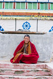 Monje tibetano joven Foto de archivo