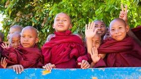 Monjes birmanos Foto de archivo libre de regalías
