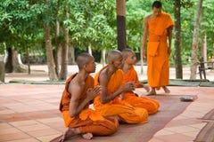 Monjes budistas Fotos de archivo