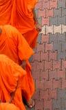 Monjes budistas imagen de archivo libre de regalías