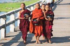Monjes budistas de los muchachos Fotos de archivo libres de regalías