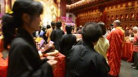 Monjes budistas, Singapur metrajes
