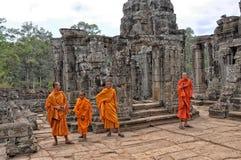 Monjes de Angkor Wat Buddhist Imagen de archivo
