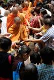 Monjes de Asia en la celebración del cumpleaños de Buda Fotos de archivo libres de regalías