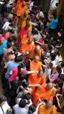 Monjes de Asia en la celebración del cumpleaños de Buda Fotografía de archivo libre de regalías