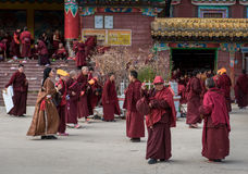 Monjes de la academia del budista de Seda Foto de archivo libre de regalías