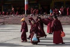Monjes de la academia del budista de Seda Imagen de archivo