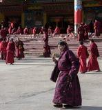 Monjes de la academia del budista de Seda Imágenes de archivo libres de regalías