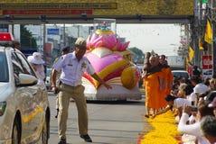 1.000 monjes de Wat Phra Dhammakaya Fotos de archivo