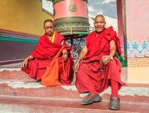 Monjes del monasterio de Diskit Fotografía de archivo libre de regalías