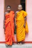 Monjes del novato en Sri Lanka Imagen de archivo libre de regalías