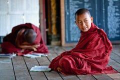 Monjes del novato, Myanmar Foto de archivo