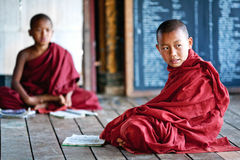 Monjes del novato, Myanmar Imágenes de archivo libres de regalías