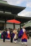 Monjes en el templo de Naritasan Shinshoji, Narita, Japón fotografía de archivo libre de regalías