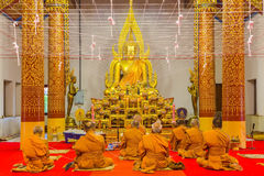 Monjes en la meditación Fotos de archivo