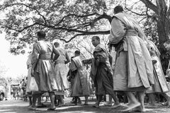 Monjes negro y blanco Fotografía de archivo