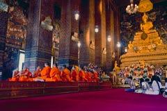 Monjes que ruegan Fotografía de archivo