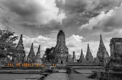 Monjes que viajan Ayuthaya Fotos de archivo libres de regalías