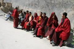 monjes, rojo, piedra, religión, festival, Imagen de archivo