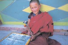 Monjes tibetanos Fotografía de archivo libre de regalías