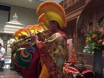 Monjes tibetanos en ceremonia Foto de archivo libre de regalías