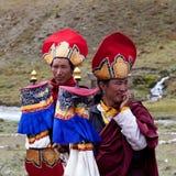 Monjes tibetanos rnying-mA-PA Imágenes de archivo libres de regalías