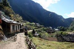 Monjo, Népal Images libres de droits