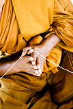 Monk. Close-up of a Thai monk at a temple in Thailand - travel and tourism Stock Images