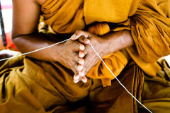 Monk. Close-up of a Thai monk at a temple in Thailand - travel and tourism Stock Photography