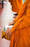 A monk in  action Royalty Free Stock Photos