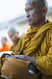 Monk at Alms Ceremony Royalty Free Stock Images