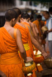 Monk Alms Giving Procession Stock Photos