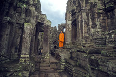 Monk at  Angkor Wat Royalty Free Stock Image