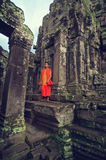Monk  at  Angkor Wat Stock Photos