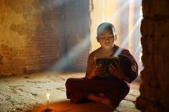 Monk in Bagan, Myanmar royalty free stock photos