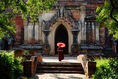 Monk in Bagan, Myanmar Royalty Free Stock Images