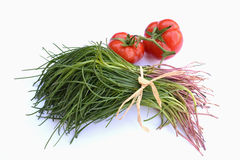 Monk beard with tomatoes Royalty Free Stock Photography