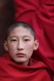 Monk, Bhutan. Young monks in a temple in Bhutan Royalty Free Stock Image