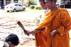 Monk blessing Stock Photography
