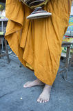 Monk Buddhism Buddhist religion worship robe food concept Royalty Free Stock Photos