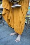 Monk Buddhism Buddhist religion worship robe food concept Royalty Free Stock Photos
