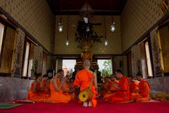 Monk. Buddhist ordination ceremony in Thailand Royalty Free Stock Image