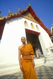 Monk at Buddhist Temple in Bangkok, Thailand Stock Photos