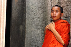 Monk in Cambodia stock image